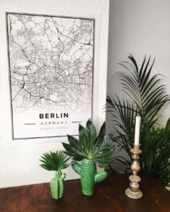White map poster of Berlin, Germany
