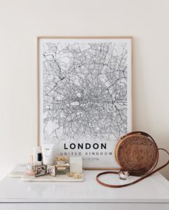 Modern Map Poster Of London, United Kingdom