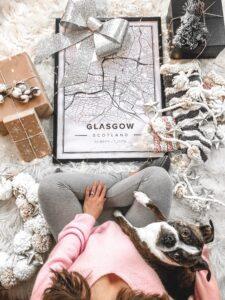 Modern map poster of Glasgow, United Kingdom