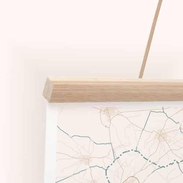 mapiful poster hanger natural wood