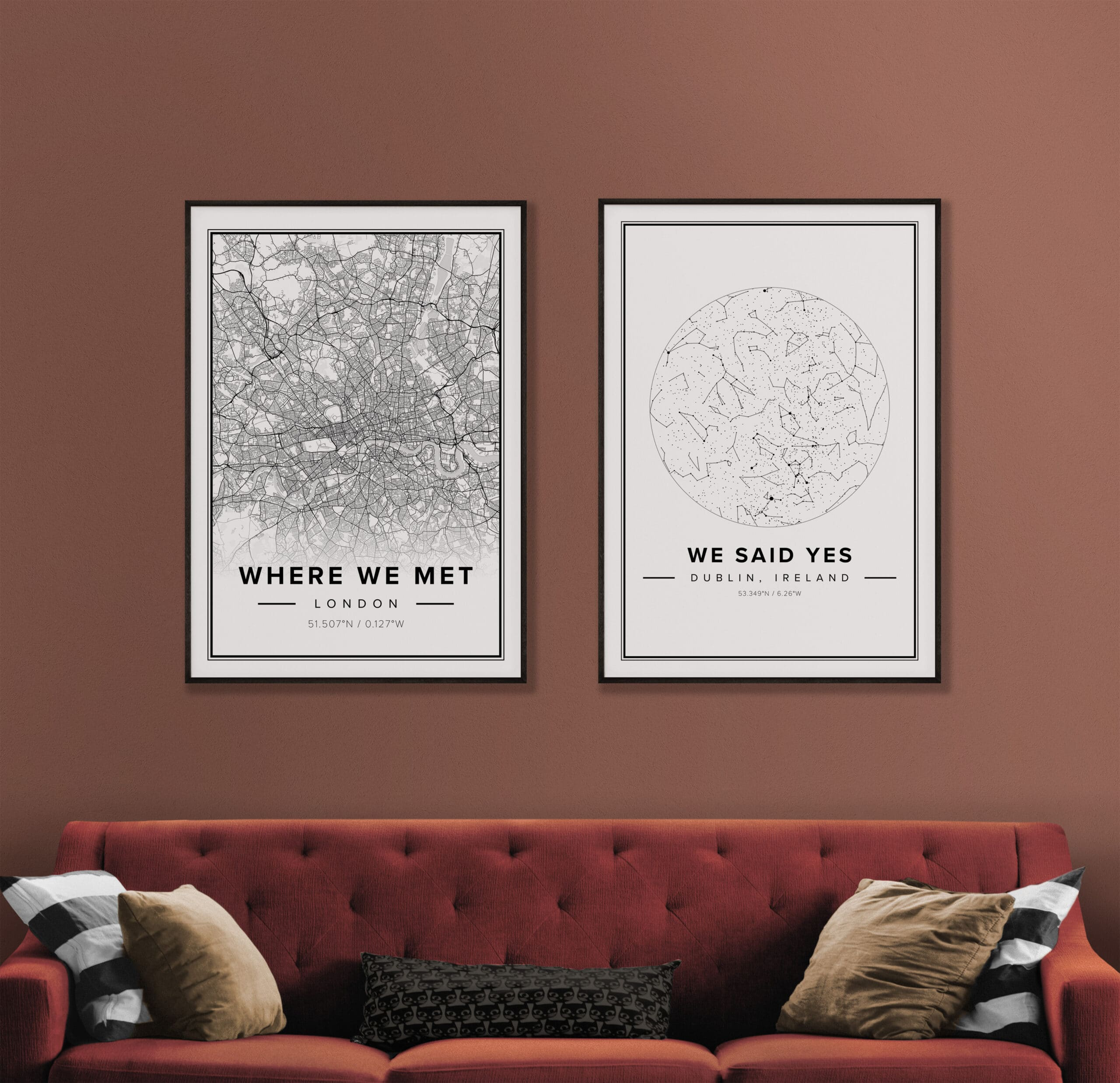 Mapiful, custom map posters