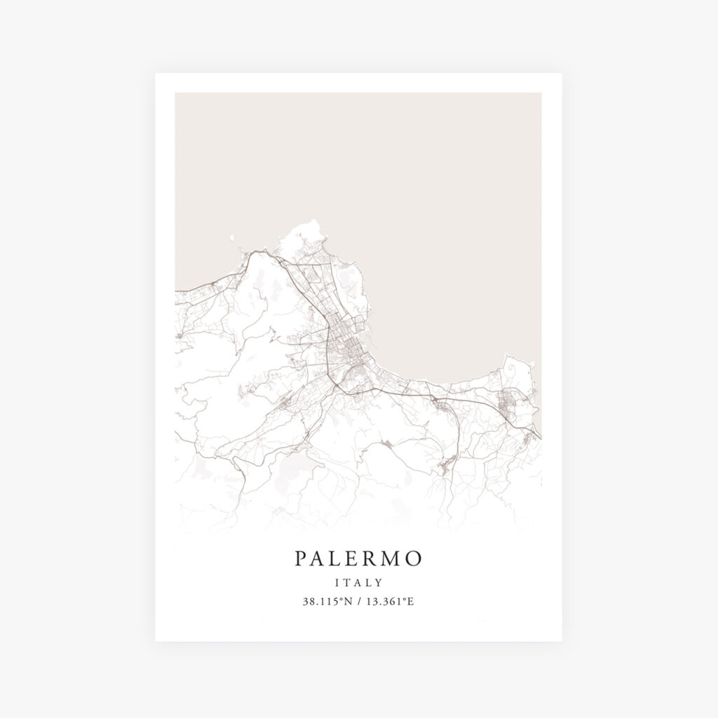 Customizable Street Map Print of Palermo