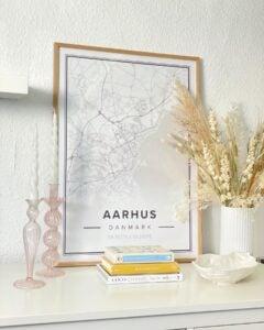 Modern map poster of Aarhus, Denmark
