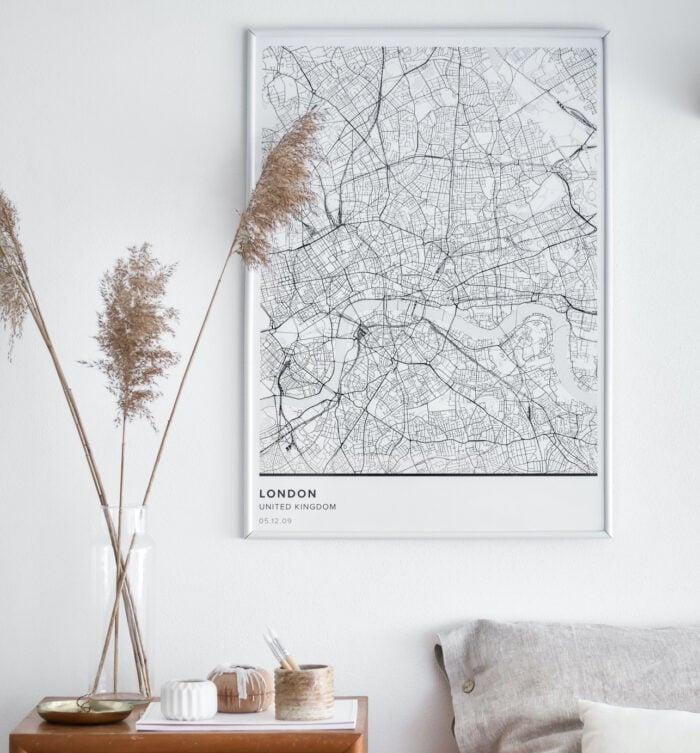 Mapiful   Beautiful map posters of Paris