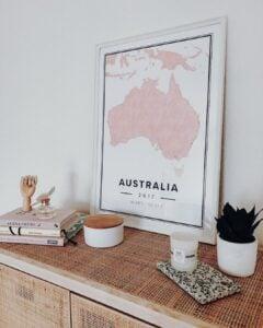 Map poster of Australia