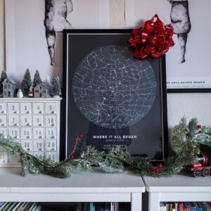 dark star map Christmas
