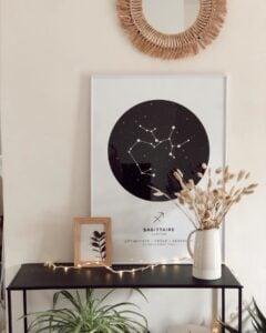 white zodiac star map Sagittarius