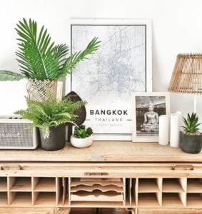 Blue map poster of Bangkok, Thailand