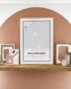 white map poster of philippines