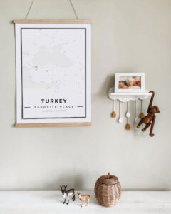 white map poster of Turkey