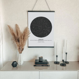 bright star map poster of France