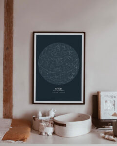 asphalt star map poster of Turkey